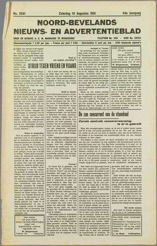 Noord-Bevelands Nieuws- en advertentieblad 1951-08-18