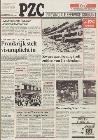 Provinciale Zeeuwse Courant 1986-09-15