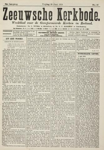 Zeeuwsche kerkbode, weekblad gewijd aan de belangen der gereformeerde kerken/ Zeeuwsch kerkblad 1918-06-28
