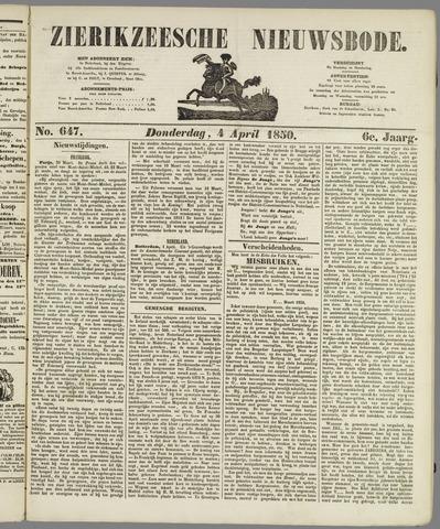 Zierikzeesche Nieuwsbode 1850-04-04