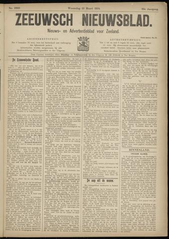 Ter Neuzensch Volksblad. Vrijzinnig nieuws- en advertentieblad voor Zeeuwsch- Vlaanderen / Zeeuwsch Nieuwsblad. Nieuws- en advertentieblad voor Zeeland 1918-03-13