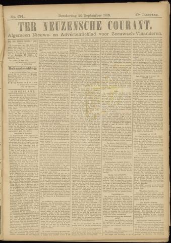 Ter Neuzensche Courant. Algemeen Nieuws- en Advertentieblad voor Zeeuwsch-Vlaanderen / Neuzensche Courant ... (idem) / (Algemeen) nieuws en advertentieblad voor Zeeuwsch-Vlaanderen 1918-09-26