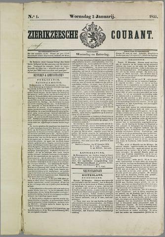 Zierikzeesche Courant 1855