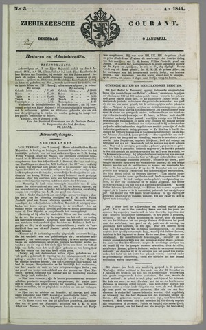 Zierikzeesche Courant 1844-01-09