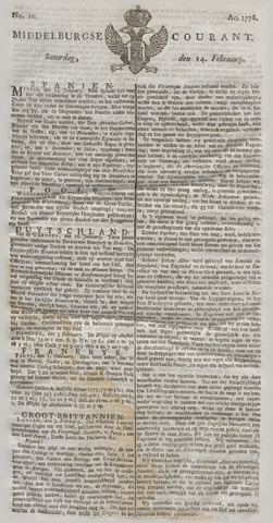Middelburgsche Courant 1778-02-14