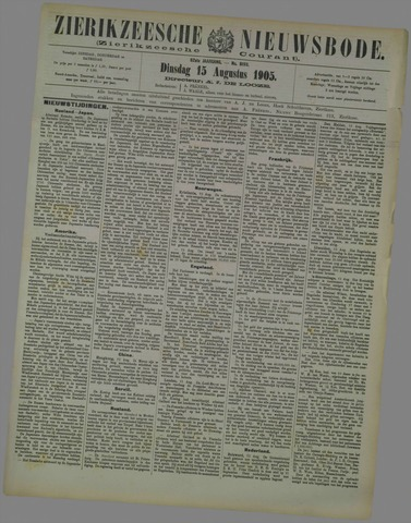 Zierikzeesche Nieuwsbode 1905-08-15