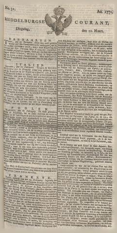 Middelburgsche Courant 1771-03-12