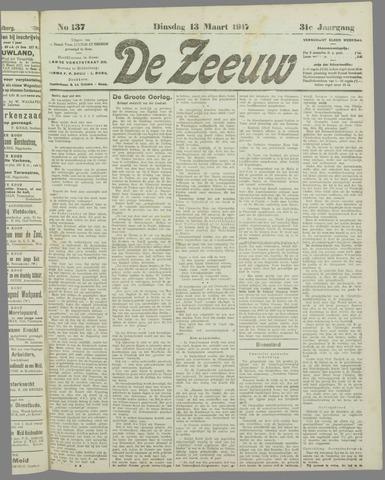 De Zeeuw. Christelijk-historisch nieuwsblad voor Zeeland 1917-03-13