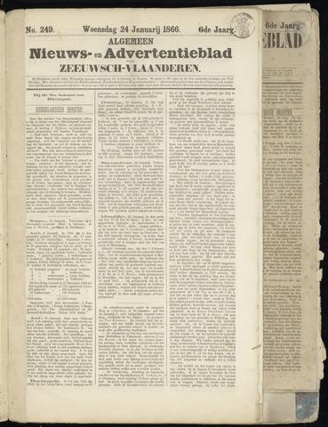 Ter Neuzensche Courant. Algemeen Nieuws- en Advertentieblad voor Zeeuwsch-Vlaanderen / Neuzensche Courant ... (idem) / (Algemeen) nieuws en advertentieblad voor Zeeuwsch-Vlaanderen 1866-01-24