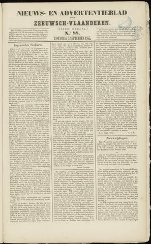 Ter Neuzensche Courant. Algemeen Nieuws- en Advertentieblad voor Zeeuwsch-Vlaanderen / Neuzensche Courant ... (idem) / (Algemeen) nieuws en advertentieblad voor Zeeuwsch-Vlaanderen 1855-09-05