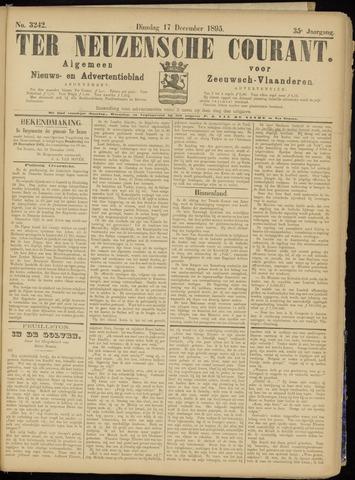 Ter Neuzensche Courant. Algemeen Nieuws- en Advertentieblad voor Zeeuwsch-Vlaanderen / Neuzensche Courant ... (idem) / (Algemeen) nieuws en advertentieblad voor Zeeuwsch-Vlaanderen 1895-12-17