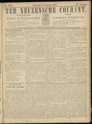 Ter Neuzensche Courant. Algemeen Nieuws- en Advertentieblad voor Zeeuwsch-Vlaanderen / Neuzensche Courant ... (idem) / (Algemeen) nieuws en advertentieblad voor Zeeuwsch-Vlaanderen 1911-08-31