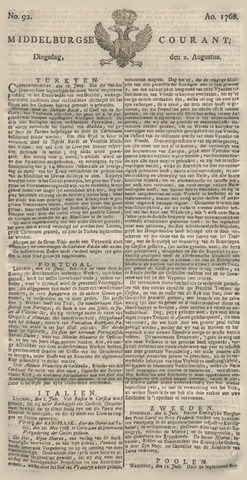 Middelburgsche Courant 1768-08-02