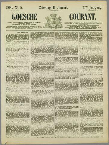 Goessche Courant 1890-01-11