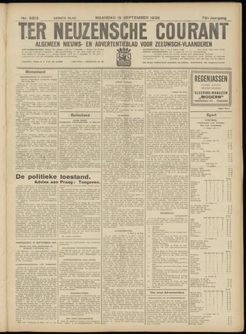 Ter Neuzensche Courant. Algemeen Nieuws- en Advertentieblad voor Zeeuwsch-Vlaanderen / Neuzensche Courant ... (idem) / (Algemeen) nieuws en advertentieblad voor Zeeuwsch-Vlaanderen 1938-09-19