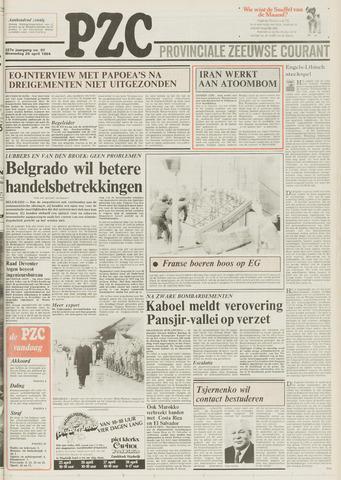 Provinciale Zeeuwse Courant 1984-04-25