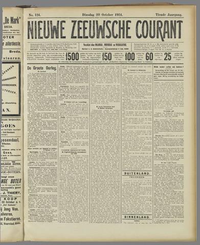 Nieuwe Zeeuwsche Courant 1914-10-20