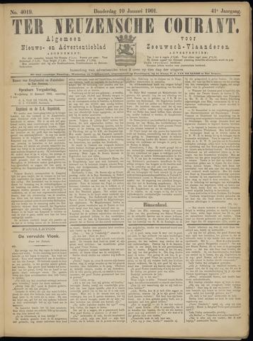 Ter Neuzensche Courant. Algemeen Nieuws- en Advertentieblad voor Zeeuwsch-Vlaanderen / Neuzensche Courant ... (idem) / (Algemeen) nieuws en advertentieblad voor Zeeuwsch-Vlaanderen 1901-01-10