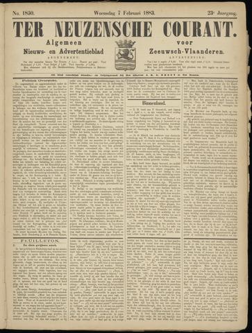 Ter Neuzensche Courant. Algemeen Nieuws- en Advertentieblad voor Zeeuwsch-Vlaanderen / Neuzensche Courant ... (idem) / (Algemeen) nieuws en advertentieblad voor Zeeuwsch-Vlaanderen 1883-02-07