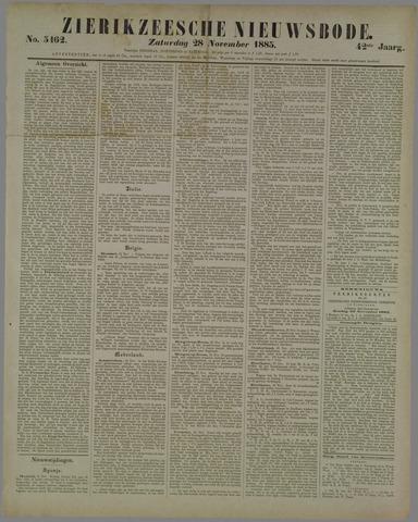 Zierikzeesche Nieuwsbode 1885-11-28