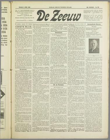 De Zeeuw. Christelijk-historisch nieuwsblad voor Zeeland 1934-04-06