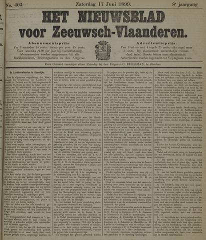 Nieuwsblad voor Zeeuwsch-Vlaanderen 1899-06-17