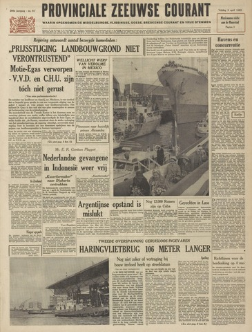 Provinciale Zeeuwse Courant 1963-04-05