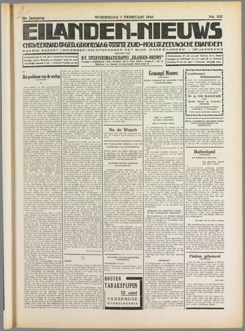 Eilanden-nieuws. Christelijk streekblad op gereformeerde grondslag 1940-02-07
