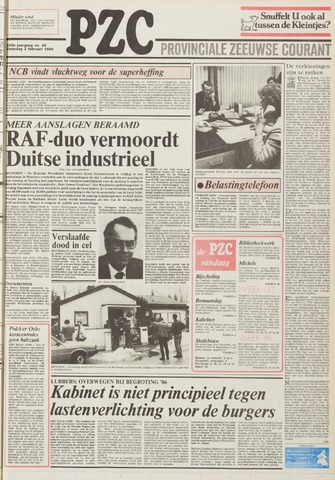 Provinciale Zeeuwse Courant 1985-02-02