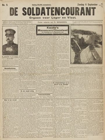 De Soldatencourant. Orgaan voor Leger en Vloot 1914-09-06