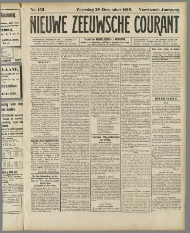 Nieuwe Zeeuwsche Courant 1918-12-28