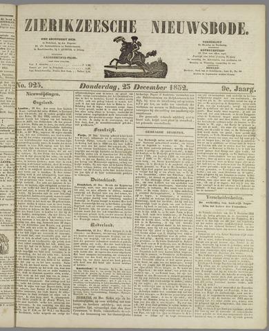 Zierikzeesche Nieuwsbode 1852-12-23
