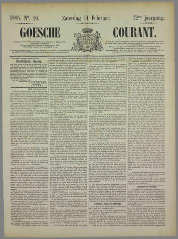 Goessche Courant 1885-02-14