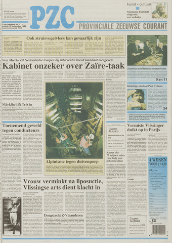 Provinciale Zeeuwse Courant 1996-11-15