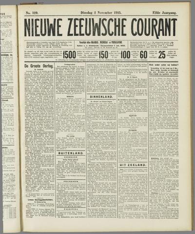 Nieuwe Zeeuwsche Courant 1915-11-02