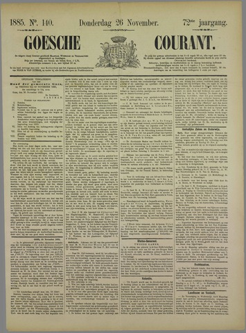Goessche Courant 1885-11-26
