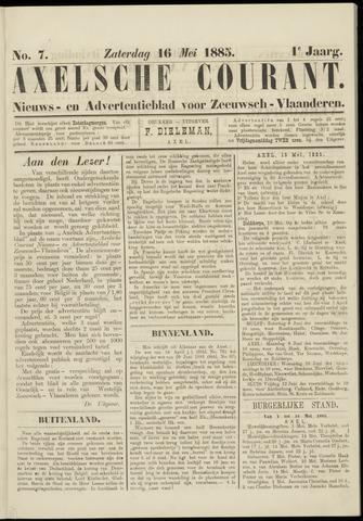 Axelsche Courant 1885-05-16