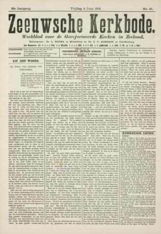 Zeeuwsche kerkbode, weekblad gewijd aan de belangen der gereformeerde kerken/ Zeeuwsch kerkblad 1915-06-04