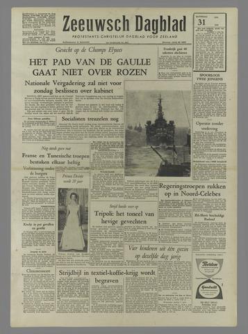 Zeeuwsch Dagblad 1958-05-31
