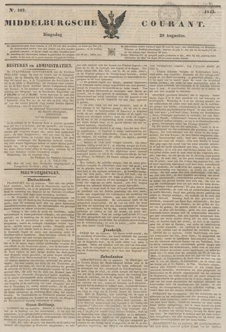 Middelburgsche Courant 1843-08-29