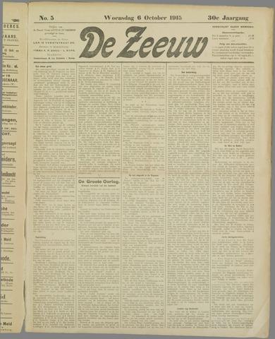 De Zeeuw. Christelijk-historisch nieuwsblad voor Zeeland 1915-10-06
