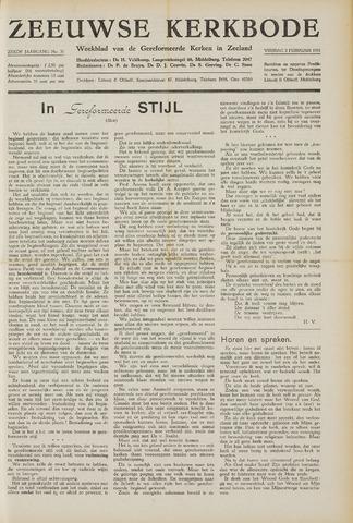 Zeeuwsche kerkbode, weekblad gewijd aan de belangen der gereformeerde kerken/ Zeeuwsch kerkblad 1951-02-02