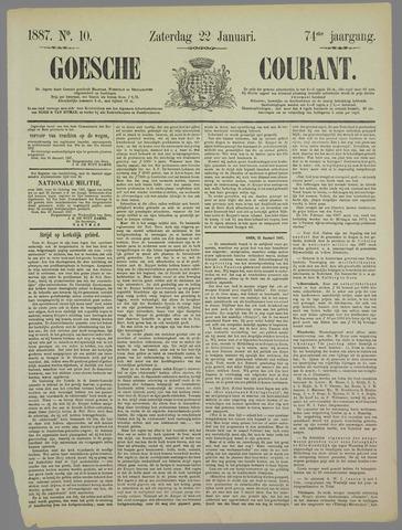 Goessche Courant 1887-01-22