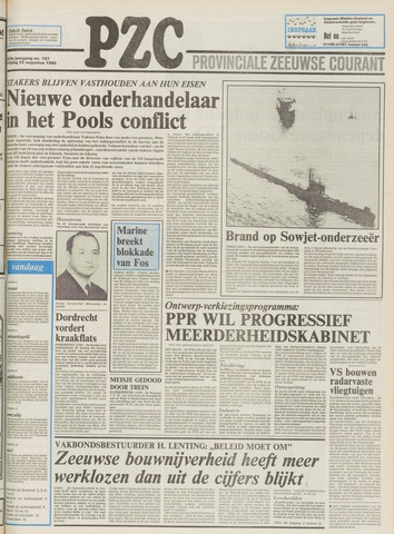 Provinciale Zeeuwse Courant 1980-08-22
