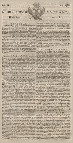 Middelburgsche Courant 1768-07-07