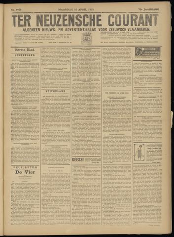 Ter Neuzensche Courant. Algemeen Nieuws- en Advertentieblad voor Zeeuwsch-Vlaanderen / Neuzensche Courant ... (idem) / (Algemeen) nieuws en advertentieblad voor Zeeuwsch-Vlaanderen 1933-04-10