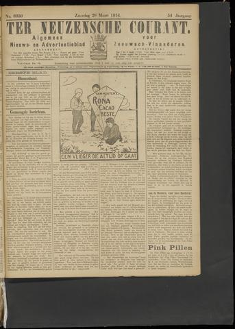 Ter Neuzensche Courant. Algemeen Nieuws- en Advertentieblad voor Zeeuwsch-Vlaanderen / Neuzensche Courant ... (idem) / (Algemeen) nieuws en advertentieblad voor Zeeuwsch-Vlaanderen 1914-03-28