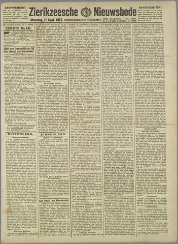 Zierikzeesche Nieuwsbode 1922-09-11