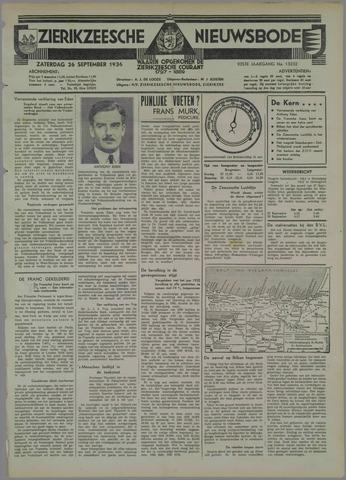 Zierikzeesche Nieuwsbode 1936-09-26