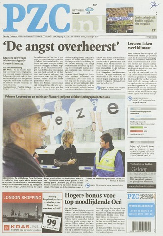 Provinciale Zeeuwse Courant 2008-10-07